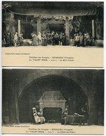 LOT 2 CPA * BUSSANG Théâtre Du Peuple LE VALET NOIR La Mort D'Aude Acte 1 & La Veillée Du Prince Acte V - Bussang