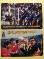 SAN MARINO 100 Years Of Juventus Football Teams Set Of 2 Cards Platini Foot Neuve MINT (TS220 - San Marino