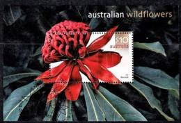 Australia 2006 Wildflowers $10 Waratah Minisheet Used - Usati