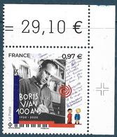 Boris Vian BDF (2020) Neuf** - Frankreich