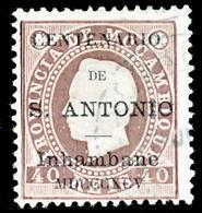 !■■■■■ds■■ Inhambane 1895 AF#05ø St.Anthony K.Luiz 40 Réis (x0939) - Inhambane