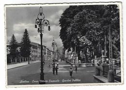 4634 - AVELLINO CORSO VITTORIO EMANUELE GIARDINI PUBBLICI ANIMATISSIMA  1950 CIRCA - Avellino
