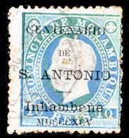 !■■■■■ds■■ Inhambane 1895 AF#02ø St.Anthony K.Luiz 10 Réis (d12924) - Inhambane