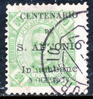 !■■■■■ds■■ Inhambane 1895 AF#12ø St.Anthony K.Carlos 80 Réis (x12904) - Inhambane