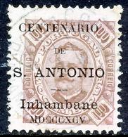 !■■■■■ds■■ Inhambane 1895 AF#13ø St.Anthony K.Carlos 100 Réis KEY (x12905) - Inhambane