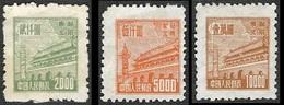 CHINE  Du Nord-Est  - YT  128 - 130 Et 131 -  Tien An Men  Porte De La Paix - NEUFS** Emis Sans Gomme - Noordoost-China 1946-48
