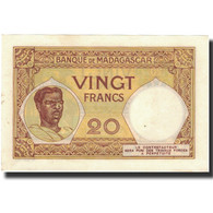 Billet, Madagascar, 20 Francs, 1937-1947, KM:37, SPL - Madagascar