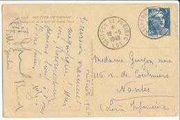 LOT CP 1948 GOUFFRE DE PADIRAC BUREAU A GERANCE GRATUITE INTERET PRIVE - Marcophilie (Lettres)