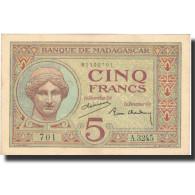 Billet, Madagascar, 5 Francs, 1937, KM:35, SUP - Madagascar