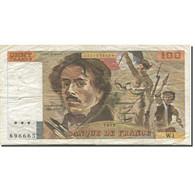 France, 100 Francs, Delacroix, 1978, 1978, TB, Fayette:68.1, KM:153 - 1962-1997 ''Francs''