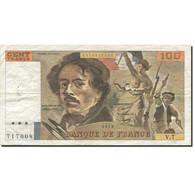 France, 100 Francs, Delacroix, 1978, 1978, TTB, Fayette:69.1d, KM:154a - 1962-1997 ''Francs''