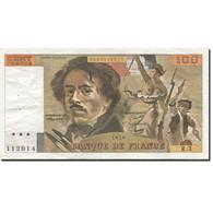 France, 100 Francs, Delacroix, 1978, 1978, TTB+, Fayette:68.3, KM:153 - 1962-1997 ''Francs''