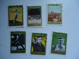 AJMAN  USED  STAMPS SET 6 OLYMPIC  GAMES  MUNICH 1972 - Summer 1972: Munich