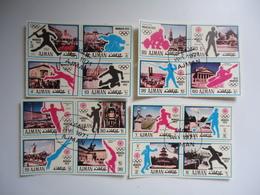 AJMAN  USED  STAMPS SET 4 BLOCK OF 4 OLYMPIC  GAMES  MUNICH 1972 - Summer 1972: Munich