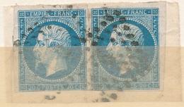 N°14 NUANCE ET OBLITERATION - 1853-1860 Napoléon III