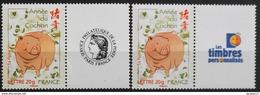Timbres Personnalisés N°4001A Et Aa Année Du Cochon De 2007 Neuf** - Personalized Stamps