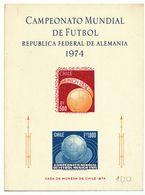 CHILI 1974 BLOCS CAMPEO MINDIAL DE FUTBOL . FOOT 1974 ALLEMAGNE - Chili