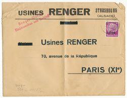 BAS RHIN ENV 1941 STRASSBURG ELS SUR TIMBRE ALSACE LORRAINE + CENSURE - 1921-1960: Moderne