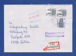 Bund R-Brief Einschreiben MiF Sehenswürdigkeiten - MUTTERSTADT - [7] République Fédérale