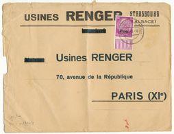 BAS RHIN ENV 1941 STRASSBURG ELS SUR TIMBRE ALSACE LORRAINE + CENSURE - 1921-1960: Période Moderne