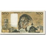 France, 500 Francs, Pascal, 1968, 1973-12-06, TTB, Fayette:71.10, KM:156b - 1962-1997 ''Francs''
