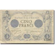 France, 5 Francs, Noir, 1871, 1874-01-19, TTB, Fayette:1.25, KM:60 - ...-1889 Francs Im 19. Jh.