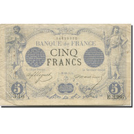 France, 5 Francs, Noir, 1871, 1874-01-19, TTB, Fayette:1.25, KM:60 - ...-1889 Franchi Antichi Circolanti Durante Il XIX Sec.