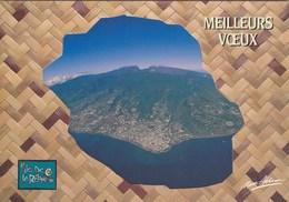 Ile De La Réunion - Vue Aérienne De Saint-Denis - Carte De Voeux Triple Volet Avec Calendrier 1994 - Saint Denis