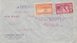 Costa Rica: 1937: San Jose To Viennea-Austria - Textil - Costa Rica