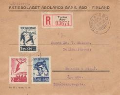 Finnland: 1938: Einschreiben Turku Nach Pilzen - Finlandia