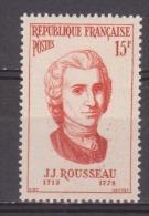 """FRANCE / 1956 / Y&T N° 1084 ** : """"Personnalités étrangères"""" (Jean-Jacques Rousseau) X 1 - France"""
