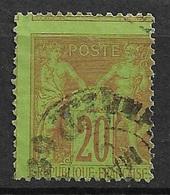 France  N°  96  Oblitéré B/ TB Piquage Décalé Signature En Haut ! ! ! .........soldé à Moins De 10  % ! ! ! - 1876-1898 Sage (Type II)