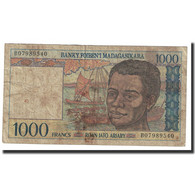Billet, Madagascar, 1000 Francs = 200 Ariary, Undated (1994), KM:76b, TB+ - Madagascar