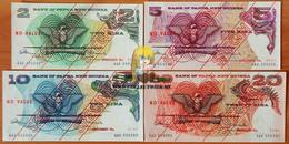 Papua New Guinea Complete Set Of Specimens 2, 5, 10 And 20 Kina 1975 UNC P-1-4 - Papua Nuova Guinea