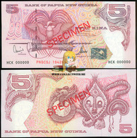 Papua New Guinea 5 Kina 2000 Commemorative Note Specimen UNC P-20 - Papua Nuova Guinea