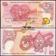 Papua New Guinea 5 Kina 2000 Commemorative Note Specimen UNC P-22 - Papua Nuova Guinea