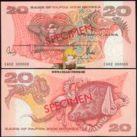 Papua New Guinea 20 Kina 2002 Specimen UNC P-10 - Papua Nuova Guinea