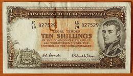 Australia 10 Shillings 1954-1960 VF/XF P-29 - Emissioni Governative Pre-decimali 1913-1965