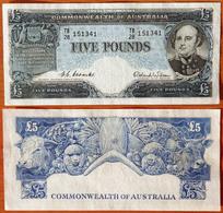 Australia 5 Pounds 1960-1965 VF/XF P-31 - Pre-decimaal Stelsel Overheidsuitgave 1913-1965