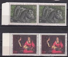 """N° 1478 Et 1478 Oeuvres D'art: Vase """" Cratère De Vix """" Nouveau Né De La Tour:Série En Paire De 2 Timbre Neuf Impeccable - Unused Stamps"""