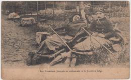 DOUANIERS FRANCAIS EN EMBUSCADE A LA FRONTIERE BELGE - War 1914-18