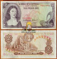 Colombia 2 Pesos Oro 1973 UNC P-413a - Colombia