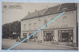 CPA BRAINE L'ALLEUD Hôtel Des Monuments Musée Du Chemin Creux Bataille De Waterloo Monument Gordon Voiture - Braine-l'Alleud