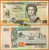 Belize 10 Dollars 2011 UNC P-68d - Belize