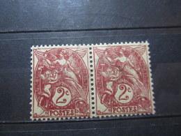 VEND BEAUX TIMBRES DE FRANCE N° 108 EN PAIRE , XX !!! (b) - 1900-29 Blanc