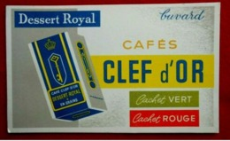 Buvard Pub Cafés Clef D'Or - Koffie En Thee