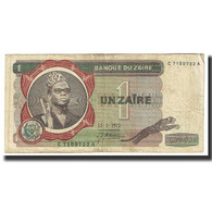 Billet, Zaïre, 1 Zaïre, 1972, 1972-03-15, KM:18a, TB - Zaïre