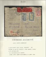 MADAGASCAR LETTRE ACCIDENTE RAID TANANARIVE 9.1.1930 POUR FRANCE GRIFFE AU DOS - Poststempel (Briefe)