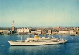 """PAQUEBOTS  Ausonia- Cie De Navigation Adriatica- Ligne """"Grand- Express""""   ... - Dampfer"""