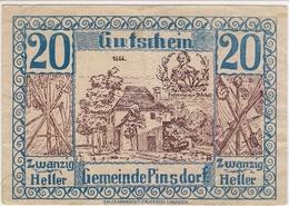 Österreich Austria Notgeld 20 HELLER FS750 PINSDORF /199M/ - Autriche